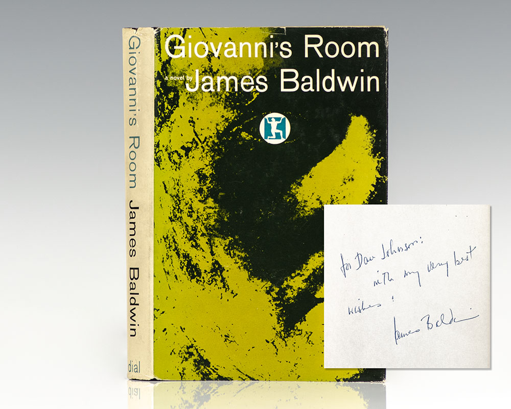 First edition of James Baldwin's Giovanni's Room; inscribed by him.
