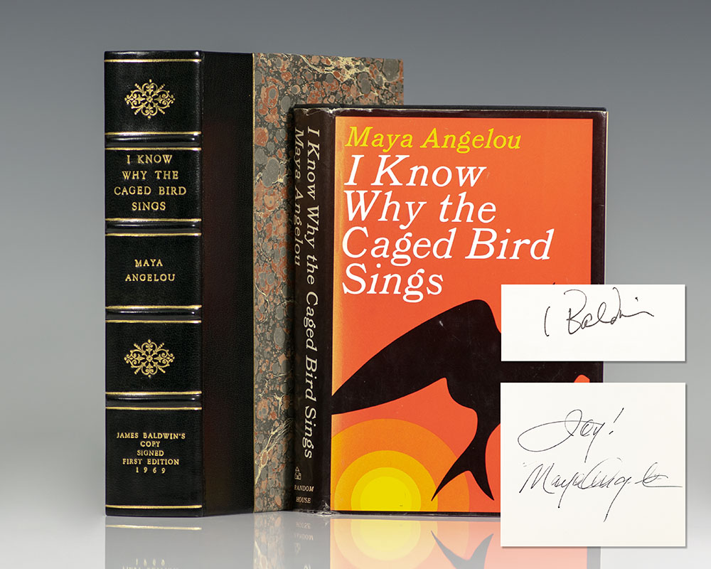 James Badwin's first edition copy of Maya Angelou's I Know Why The Caged Bird Sings.