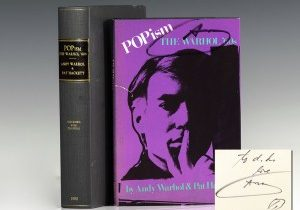 First edition of Warhol's sensational 1980 memoir POPism: The Warhol '60s; inscribed by him to New York fashionista D.D. Ryan