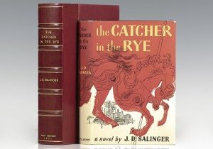 First edition of J.D. Salinger's The Catcher in the Rye; in a fine first-issue dust jacket
